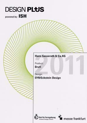 Design Plus certificate for the Drufi from 2011