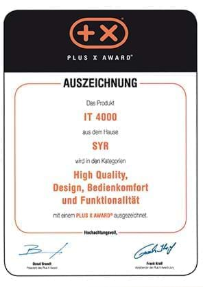 PLUS X AWARD für IT 4000