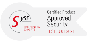 syss Certificated Product – Approved Security – TESTED 01.2021