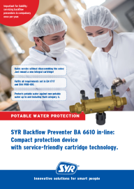 Backflow Preventer BA 6610 in-line: Compact protection device
