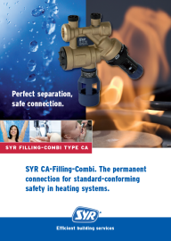 CA-Filling-Combi. Permanent connection for standard-conforming safety in heating systems.