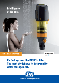 Perfect system. the DRUFI+ filter. The most stylish way to high quality water management.