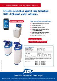 LEXsmart water softeners. Effective protection against lime formation available in three versions