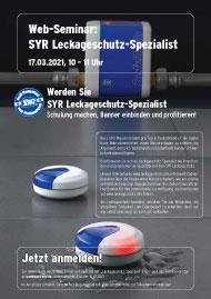 SYR Leckageschutz-Spezialist<br>17.03.2021, 10 - 11 Uhr