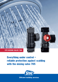 Reliable protection against scalding with the mixing valve 705.