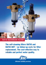 The self-cleaning filters RATIO and RATIO HOT - no follow up costs for filter replacement