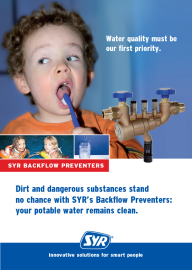 Dirt and dangerous substances stand no change with SYR's Backflow Preventers