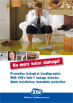 SAFE-T - Prevention instead of treading water. With SYR's Safe-T leakage detector. Quick installation, immediate protection.